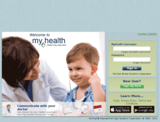 myhealth.hchdonline.com screenshot