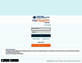 myhealthonline.sccgov.org screenshot