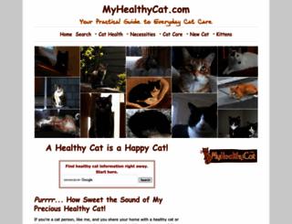 myhealthycat.com screenshot