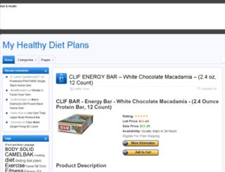 myhealthydietplans.com screenshot