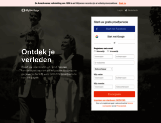myheritage.nl screenshot