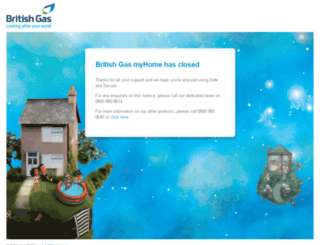 myhome.britishgas.co.uk screenshot
