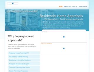 myhomeappraised.com screenshot