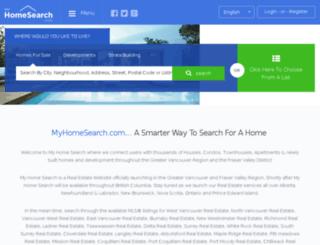 myhomesearch.com screenshot