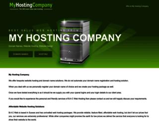 myhostingcompany.co.uk screenshot