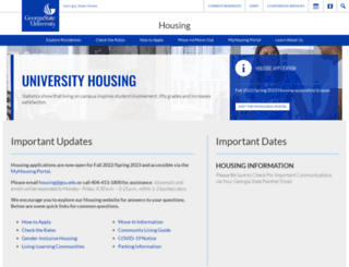 myhousing.gsu.edu screenshot