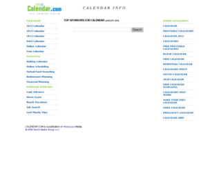 myhr.calendar.com screenshot