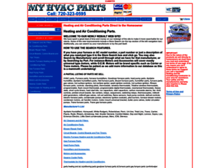 myhvacparts.com screenshot