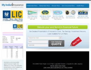 myindiainsurance.com screenshot