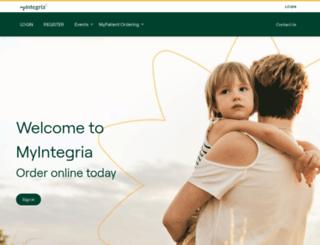 myintegria.com screenshot