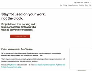 myintervals.com screenshot