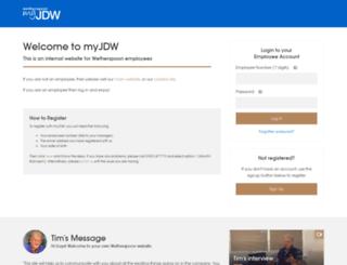 myjdw.co.uk screenshot