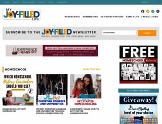 myjoyfilledlife.com screenshot