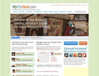 mykidsweek.com screenshot