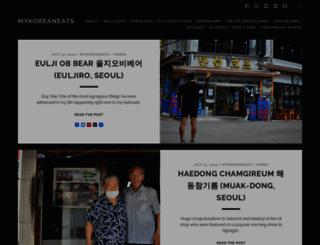 mykoreaneats.com screenshot