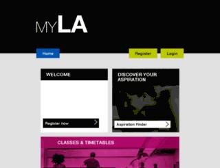myla.lafitness.co.uk screenshot