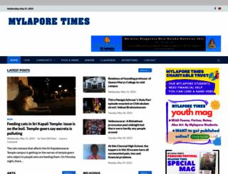 mylaporetimes.com screenshot
