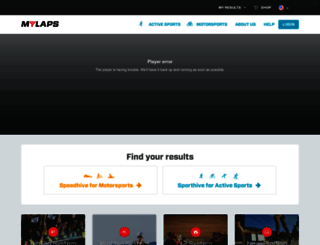 mylaps.com screenshot