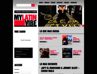 mylatinvibe.com screenshot