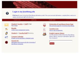 mylc.lynchburg.edu screenshot