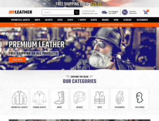myleather.com screenshot