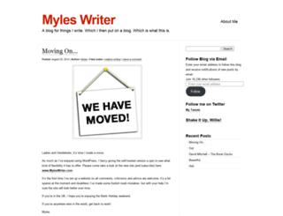 myleswriter.wordpress.com screenshot
