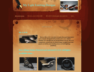 mylightemittingdesigns.weebly.com screenshot