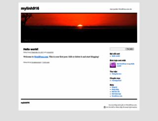 mylinh916.wordpress.com screenshot