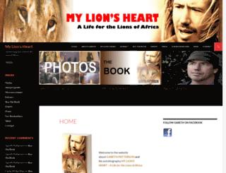 mylionsheart.com screenshot