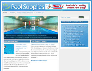 mylocal-poolsupplies.com.au screenshot