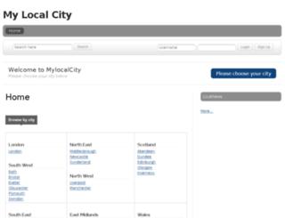 mylocalcity.co.uk screenshot