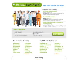mylocalemployment.net screenshot