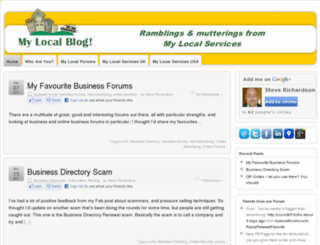 mylocalservices.wordpress.com screenshot