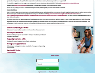 myloyola.luhs.org screenshot