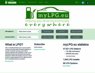 mylpg.eu screenshot