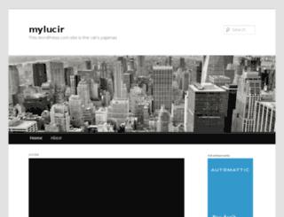 mylucir.wordpress.com screenshot