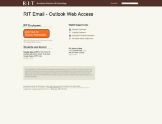 mymail.rit.edu screenshot