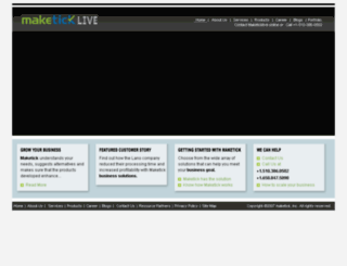 mymaketick.com screenshot