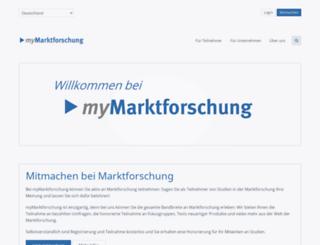 mymarktforschung.de screenshot