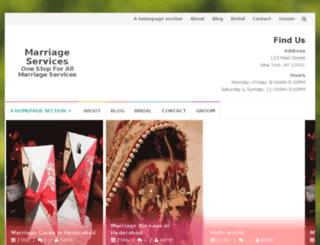 mymarriageservices.com screenshot
