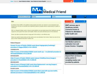 mymedicalfriend.com screenshot