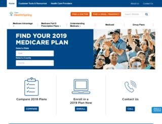 mymedicare.cignahealthspring.com screenshot