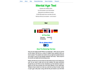 mymentalage.com screenshot