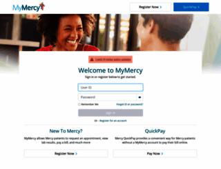 mymercy.net screenshot