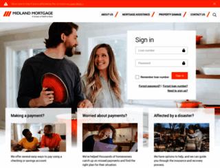 mymidlandmortgage.com screenshot