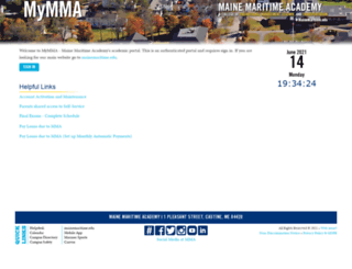 mymma.mma.edu screenshot