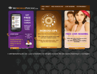 mymobilepsychic.com screenshot