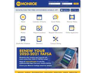 mymonroe.monroecollege.edu screenshot