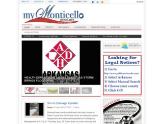 mymonticellonews.net screenshot