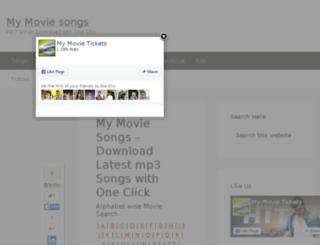mymoviesongs.com screenshot